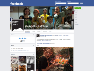Created and currently maintain Facebook account for Glendale Church of Christ