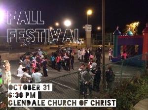 Advertisement for Fall Festival for Glendale Church of Christ